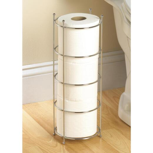 Zenith Polished Chrome Freestanding Toilet Paper Holder